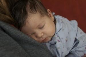 Lola durmiendo como una bendita